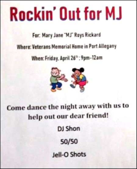 4-26 Rockin Out For MJ, Port Allegany