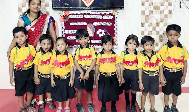 Mother's Day celebrated with great love at the Happy Kids Play School of Jawahar Colony