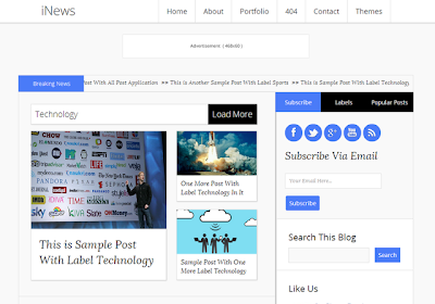 iNews 2014 Responsive Blogger Template