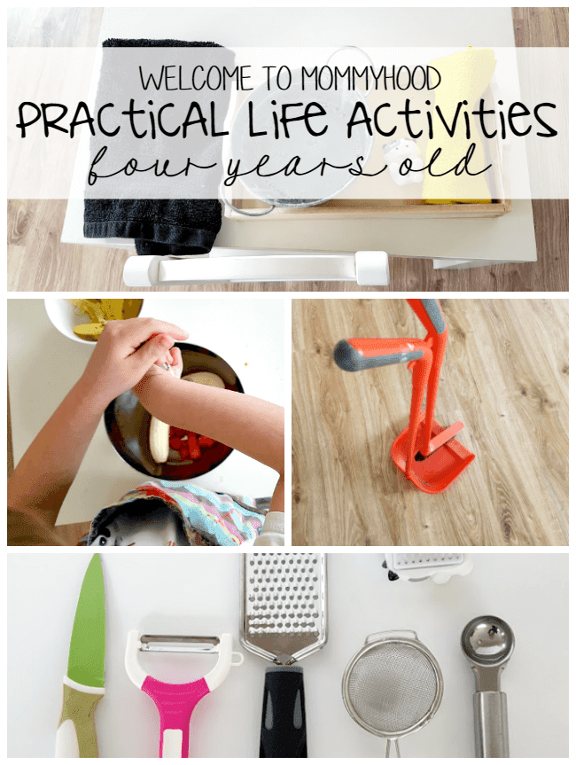 A collection of Montessori practical life activities at 4 years old #practicallifeactivities #montessori #Montessoriactivities