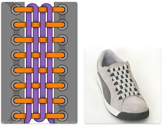 Cara Mengikat Tali Sepatu Checkerboard Lacing