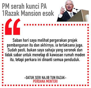 #JanjiDiTepati: PM Serah Kunci 1Razak Mansion Besok