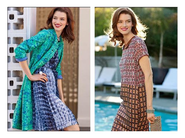 Сочетание юбки с цветочным принтом с топом с абстрактным принтом