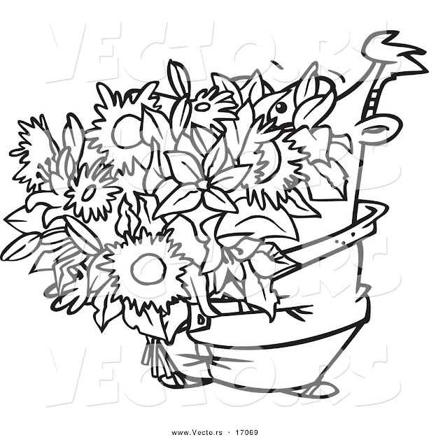 Bouquet Of Roses Coloring Pages Bouquet  Coloring Page