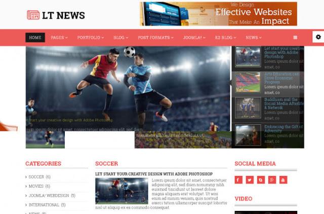 lt news новостной шаблон для joomla