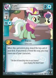 My Little Pony Lyra, Caroller Defenders of Equestria CCG Card
