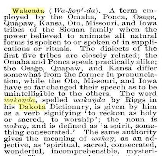 dakota dictionary wakonda omaha meaning