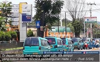 Dinas Perhubungan (Dishub) Kabupaten Sukabumi, berencana akan membangun 4 unit Halte pemberhentian penumpang di sejumlah kawasan di Kecamatan Cibadak, Kabupaten Sukabumi