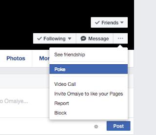 How do I poke someone on Facebook?
