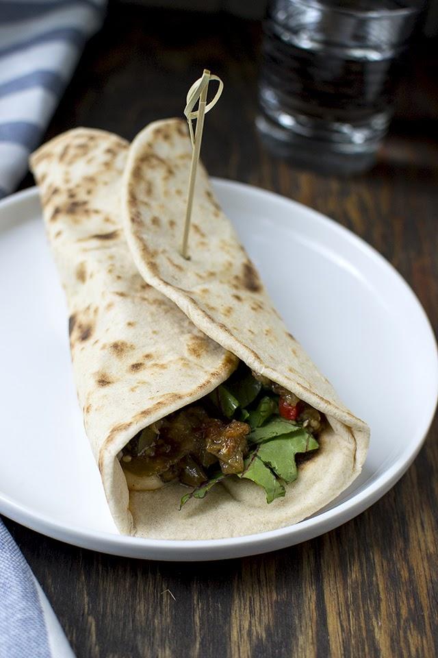 Vegetarian Piada Sandwich