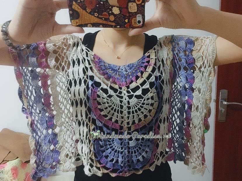 Нарядная блуза крючком. Схема вязания (4)
