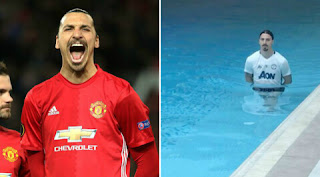 Manchester United striker Zlatan Ibrahimovich knee injury
