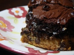 The Ultimate Fudge Brownie Chocolate Chip Oreo Cookie Bars