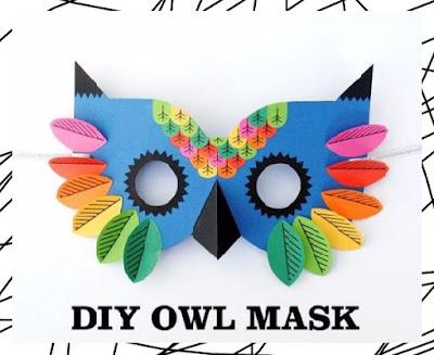 DIY หน้ากากแฟนซีทำเองเสริมสร้างจินตนาการสำหรับเด็ก
