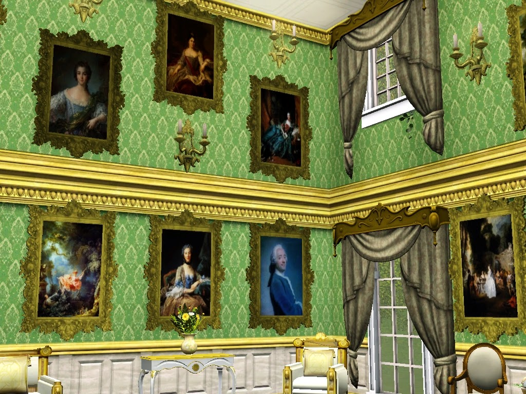 18th Century Upright Rococo Paintings Set 1