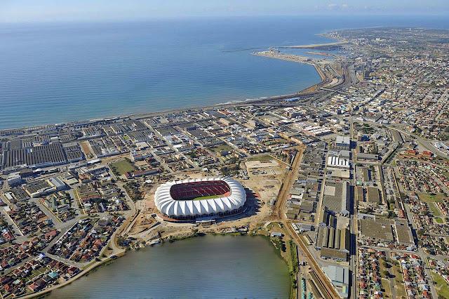 Porto Elizabeth e estádio Nelson Mandela
