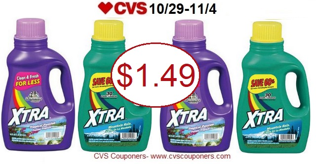 http://www.cvscouponers.com/2017/10/stock-up-xtra-laundry-detergent-only.html