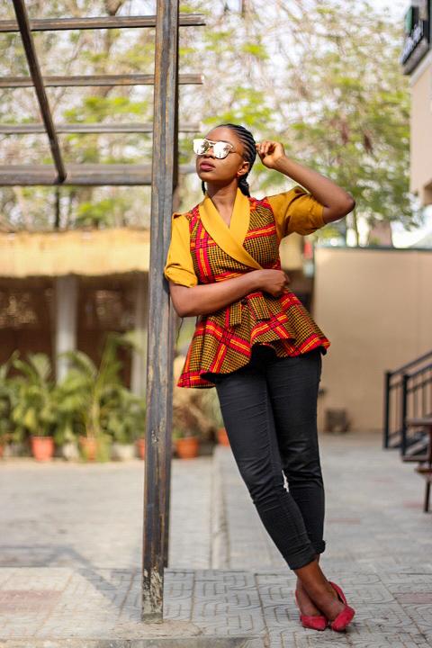 ankara african print peplum jacket