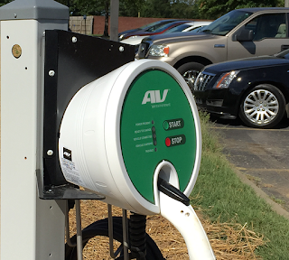 electric car chargers on Vol State campus