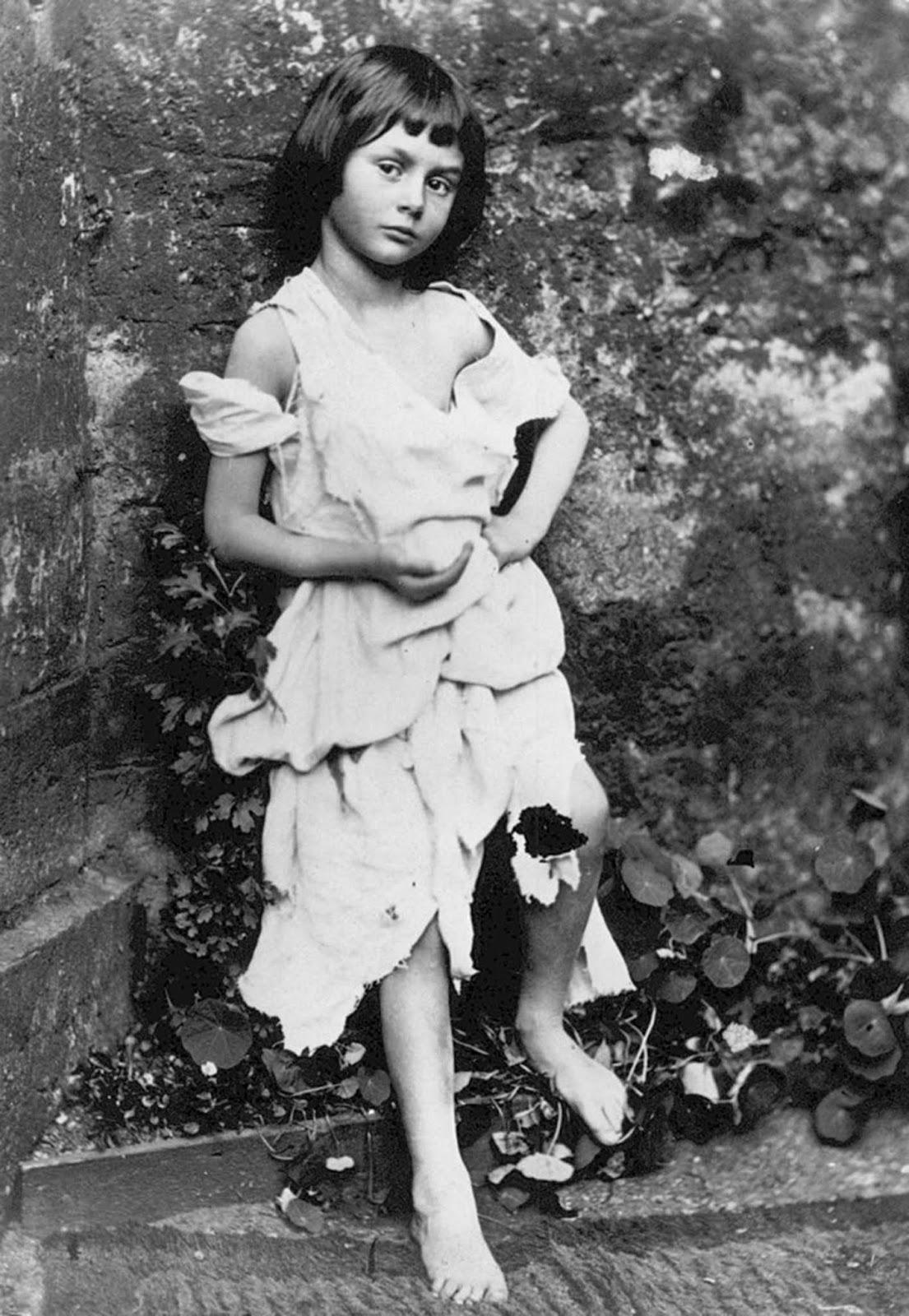 Alice Liddell as a beggar-girl, 1858.