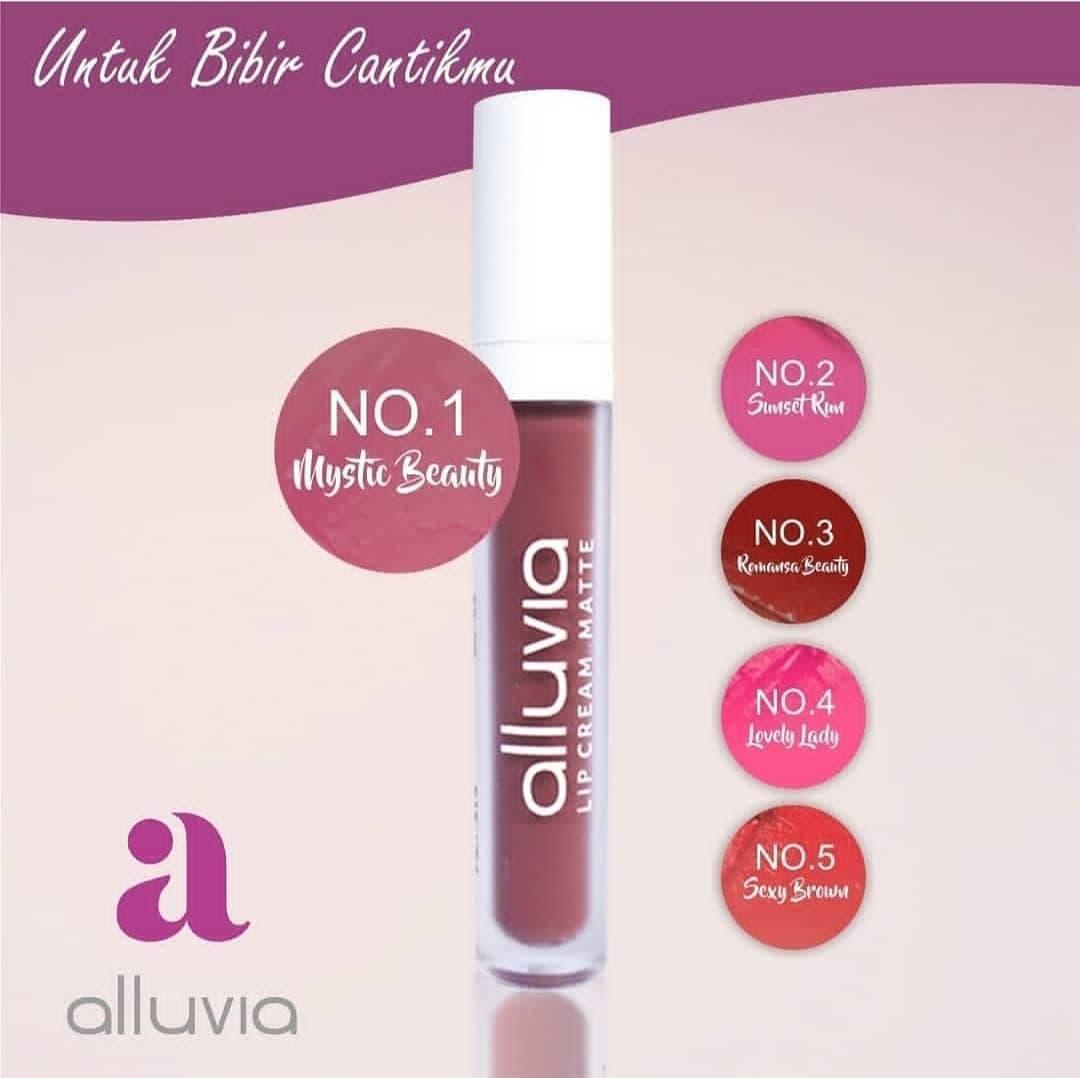 photo produk mistic beauty lip cream matte alluvia