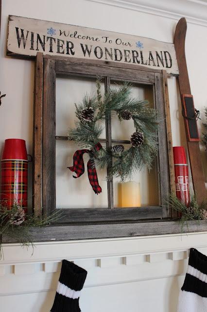 Building A Christmas Mantel Around A Window Frame