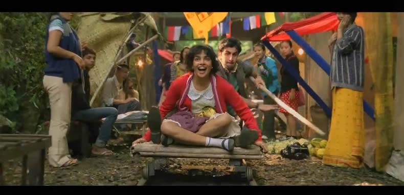 Ranbir and Priyanka on rail track
