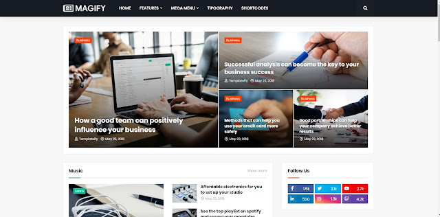 magify new and magazine blogger templates