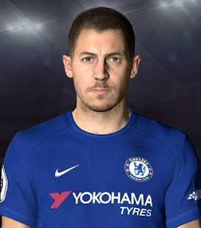 PES 2017 Faces Eden Hazard by Facemaker Ahmed El Shenawy