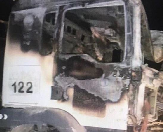 انفجار ثلاث شاحنات تقدم معونات غذائية فى اليمن