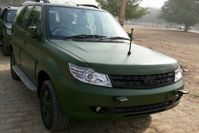 Indian Army-version of Tata Safari Storme spotted as deliveries begin