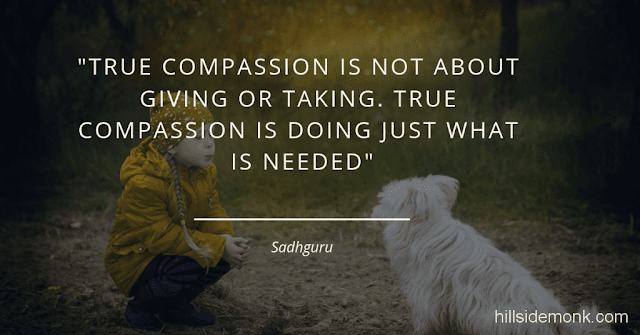 Sadguru Quotes-13 True compassion is not about giving or taking. True compassion is doing just what is needed ~ Sadguru