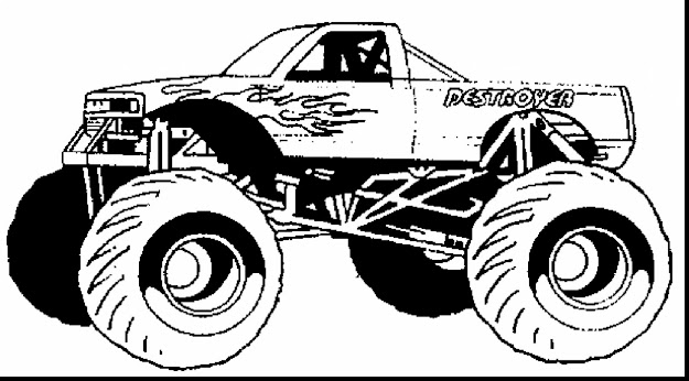 Beautiful Monster Truck Coloring Pages With Monster Trucks Coloring Pages