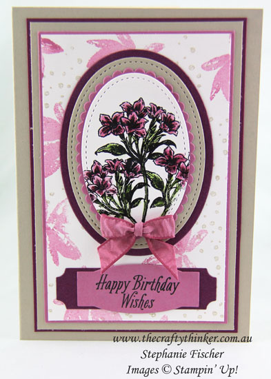#thecraftythinker, Sale-A-Bration, Avant-Garden, Sneak Peek, Stampin' Up! Australia Demonstrator, Stephanie Fischer, Sydney NSW