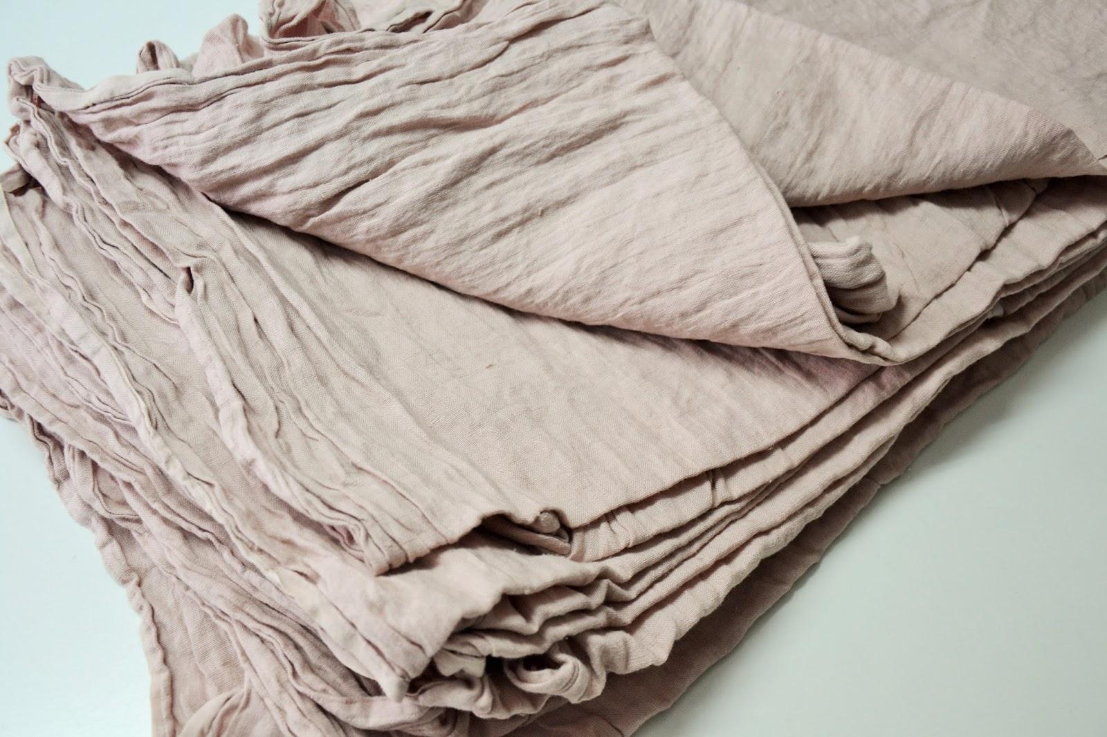 739953670c Bio-Textil Polski Len   Pudrowy i Brudny Róż - Len dekoracyjny i ...