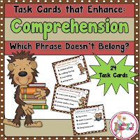 comprehension task cards