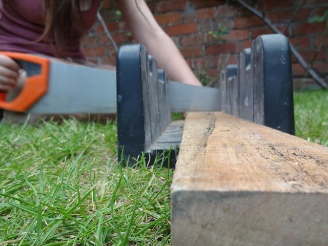 cutting pallet wood