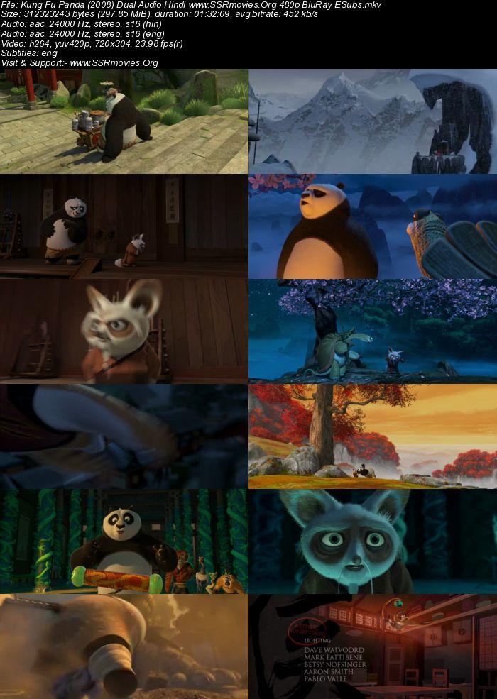 Kung Fu Panda (2008) Dual Audio Hindi 480p BluRay 300MB