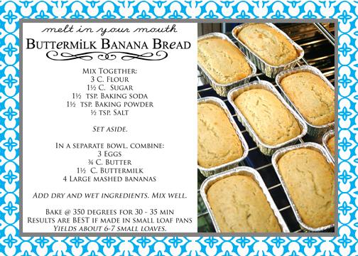 banana bread recipe card - photo #26