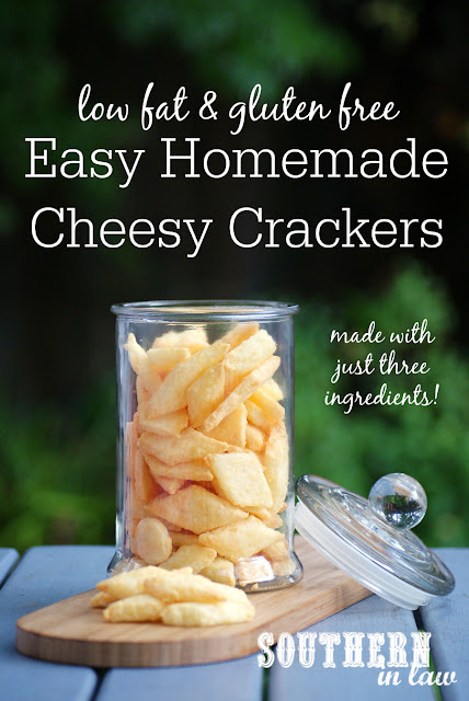 Easy Healthy Homemade Cheese Crackers Recipe - gluten free, low fat, egg free, sugar free, healthy, homemade crackers