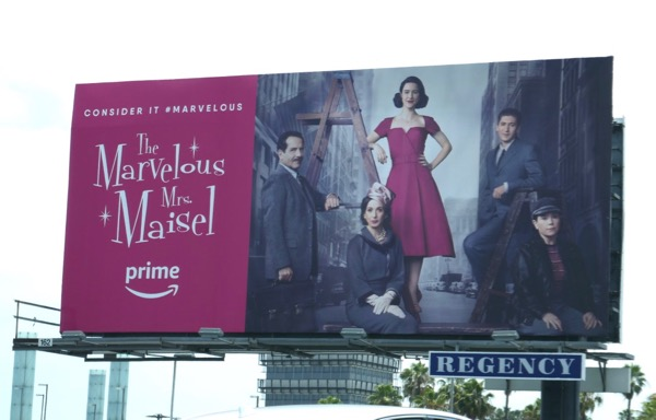 Marvelous Mrs Maisel season 1 Emmy FYC billboard LAX