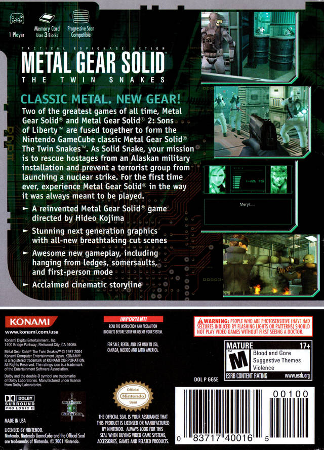 metal gear solid the twin snakes iso