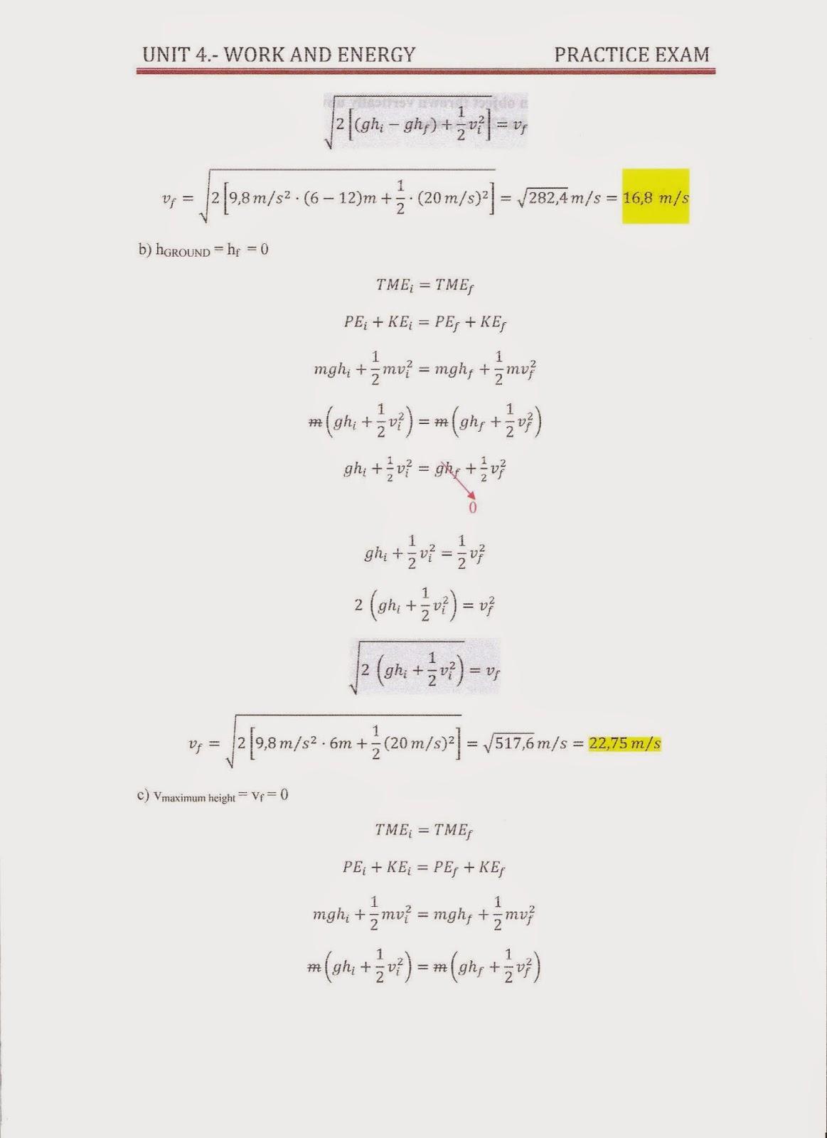 FísicaQuímicaMateTICymás: 4th ESO C: PRACTICE EXAM UNIT 4