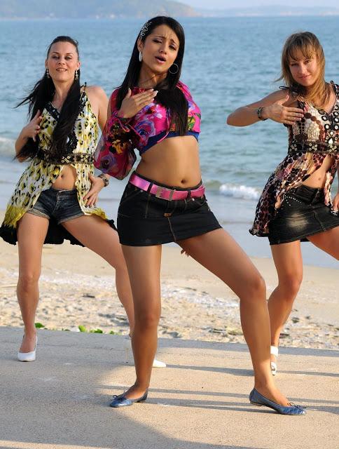 Trisha dancing at beach