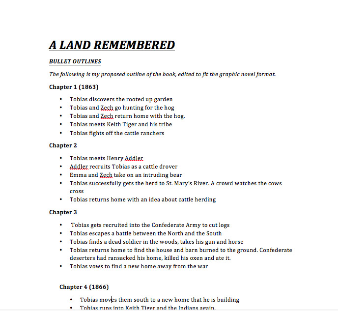 A Land Remembered: The Graphic Novel: Scripted!