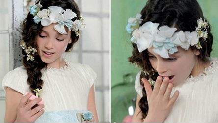 Un look impactante con peinados para bautizo Imagen de estilo de color de pelo - MODA INFANTIL ROPA para niños ropa para niñas ropita bebes ...