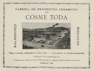 Anuncio de Cosme Toda (1917)