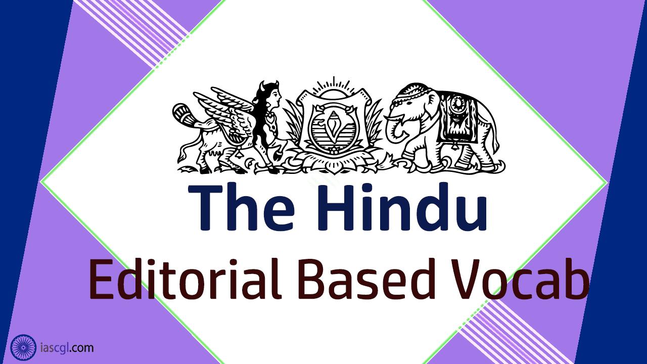 The Hindu Vocab 25 August 2018