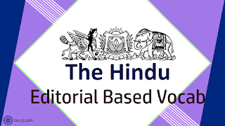 The Hindu Vocab 25 August 2018