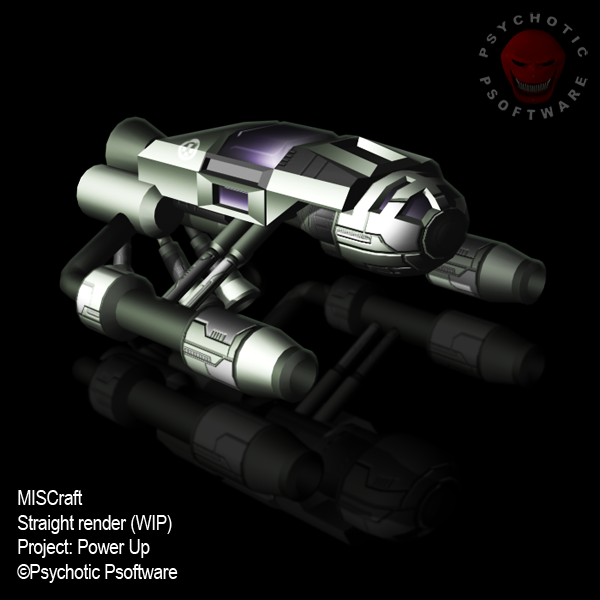 One of the baddies mid process: This is the textured model of the MISCraft. From here it goes on to be rendered in situ, having dirt and detail added by hand before going into the game.